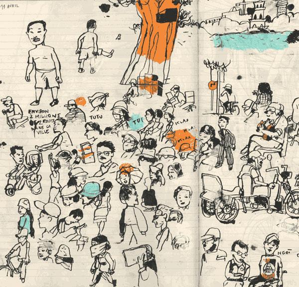 Benoît Guillaume :: Vietnam, klaxons, Laos #12