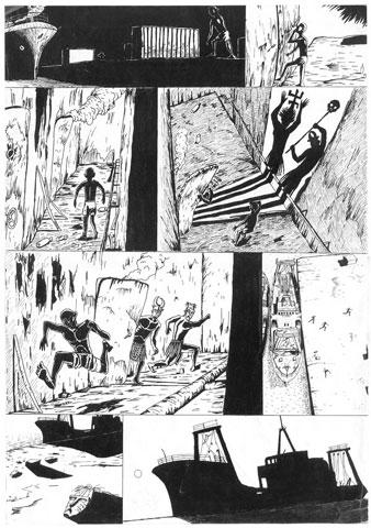 Jérémy Soudant :: Scène de sorcellerie sur une épave en afrique #2