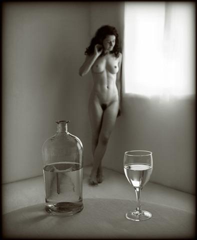 Pascal Renoux :: Fruits, verres et lys #1
