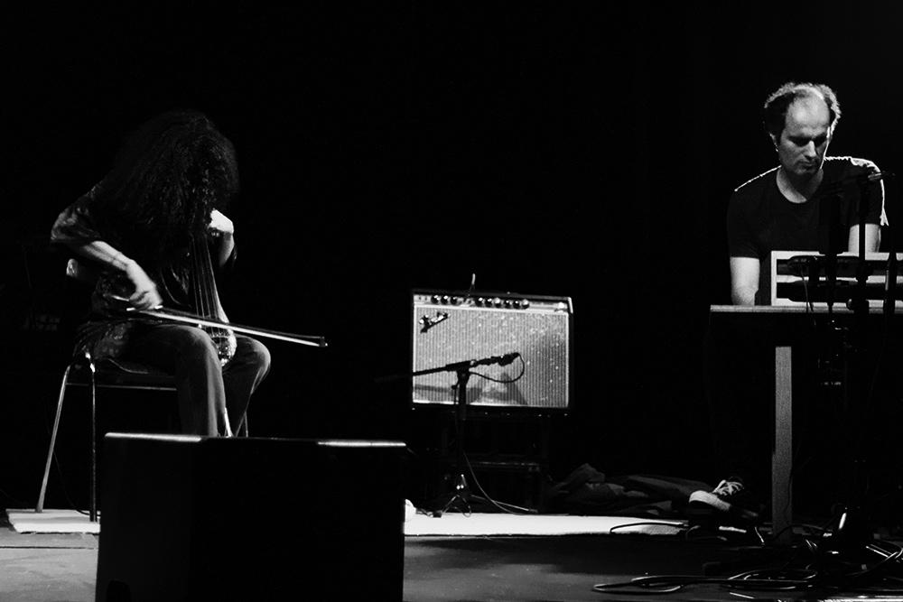 David Maranha & Helena Espvall by Laurent Orseau - Les Ateliers Claus - Brussels, Belgium - 2015-05-15 #1