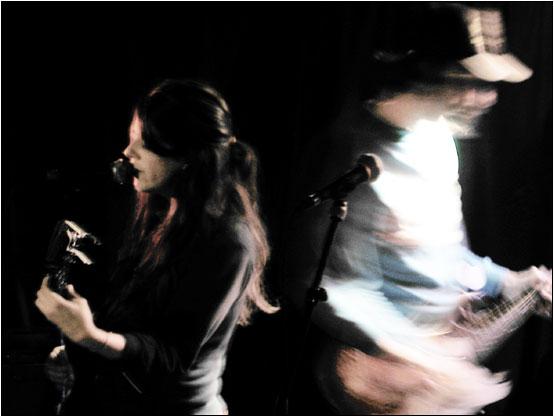 Julie Doiron + Herman Düne by Laurent Orseau - Guinguette Pirate - Paris, France - 2003-10-26 #2