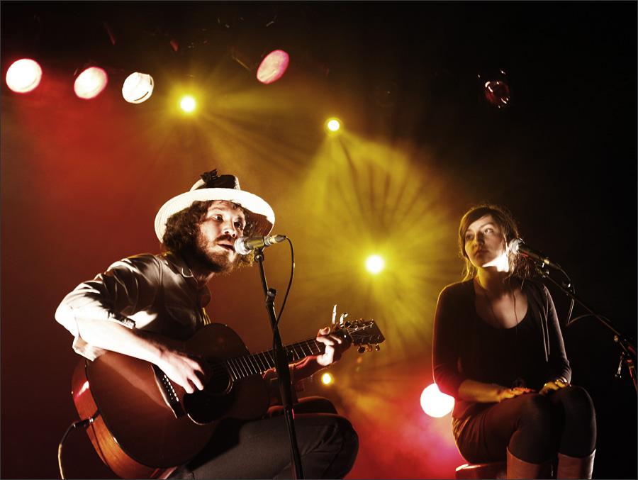 Benjamin Oak Goodman and Alina Hardin by Laurent Orseau - Nouveau Casino - Paris, France - 2009-04-17 #1