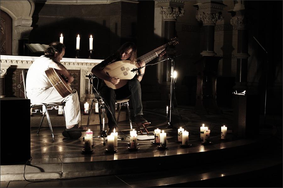 Jozef van Wissem & Steffen Basho-Junghans by Laurent Orseau - Ringkirche - Wiesbaden, Germany - 2009-09-11 #1