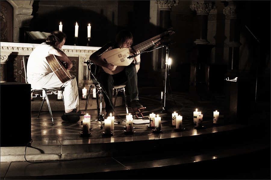 Jozef van Wissem & Steffen Basho-Junghans by Laurent Orseau - Ringkirche - Wiesbaden, Germany - 2009-09-11 #2