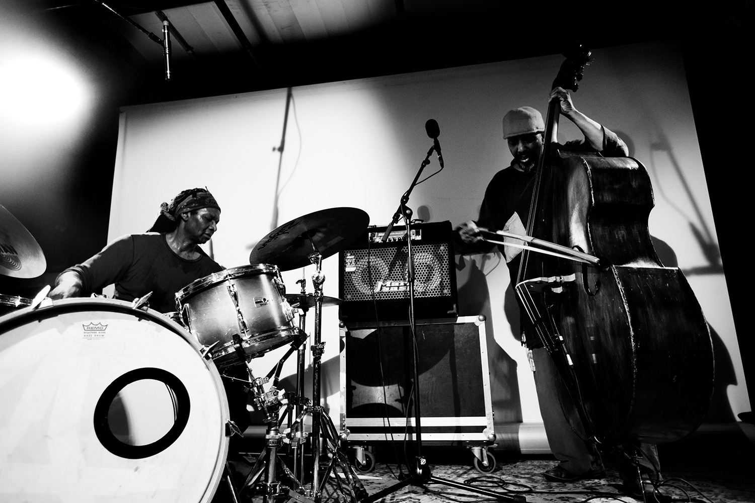 William Parker & Hamid Drake & John Dikeman by Laurent Orseau - Les Ateliers Claus - Brussels, Belgium - 2016-11-01 #2