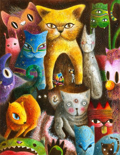 May Ann Licudine :: Babu and his kitten Abu | hinah exhibitions #1