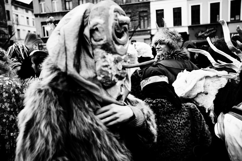 Carnaval sauvage de Bruxelles 2019 (Black & White) by Laurent Orseau #1