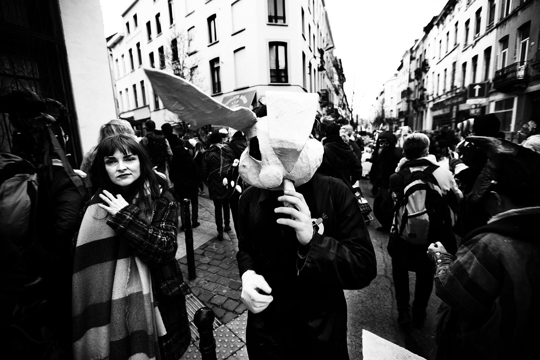 Carnaval sauvage de Bruxelles 2019 (Black & White) by Laurent Orseau #10