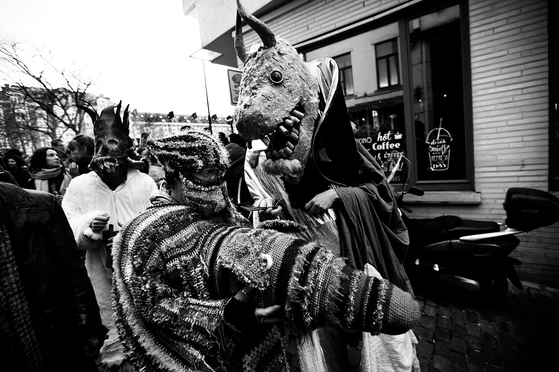 Carnaval sauvage de Bruxelles 2019 (Black & White) by Laurent Orseau #11