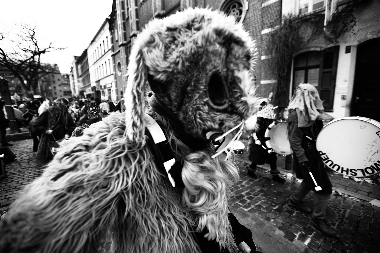 Carnaval sauvage de Bruxelles 2019 (Black & White) by Laurent Orseau #13