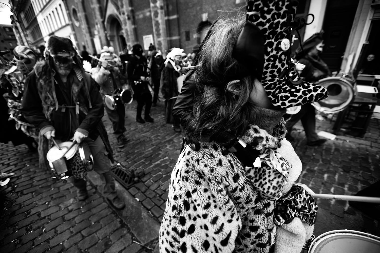 Carnaval sauvage de Bruxelles 2019 (Black & White) by Laurent Orseau #14