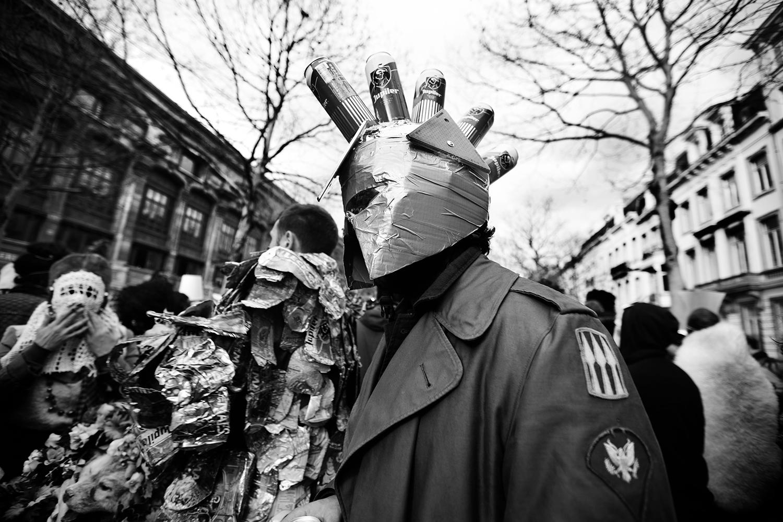 Carnaval sauvage de Bruxelles 2019 (Black & White) by Laurent Orseau #15