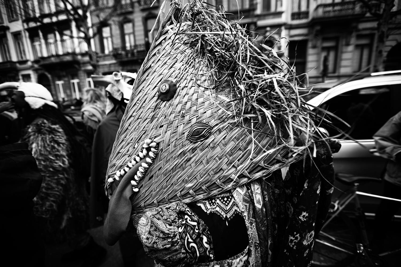 Carnaval sauvage de Bruxelles 2019 (Black & White) by Laurent Orseau #17