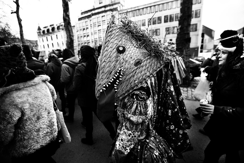 Carnaval sauvage de Bruxelles 2019 (Black & White) by Laurent Orseau #18