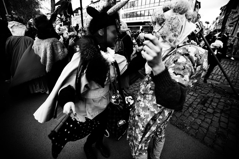 Carnaval sauvage de Bruxelles 2019 (Black & White) by Laurent Orseau #19