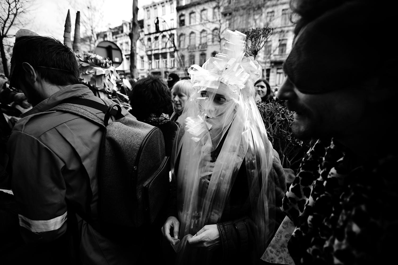 Carnaval sauvage de Bruxelles 2019 (Black & White) by Laurent Orseau #2