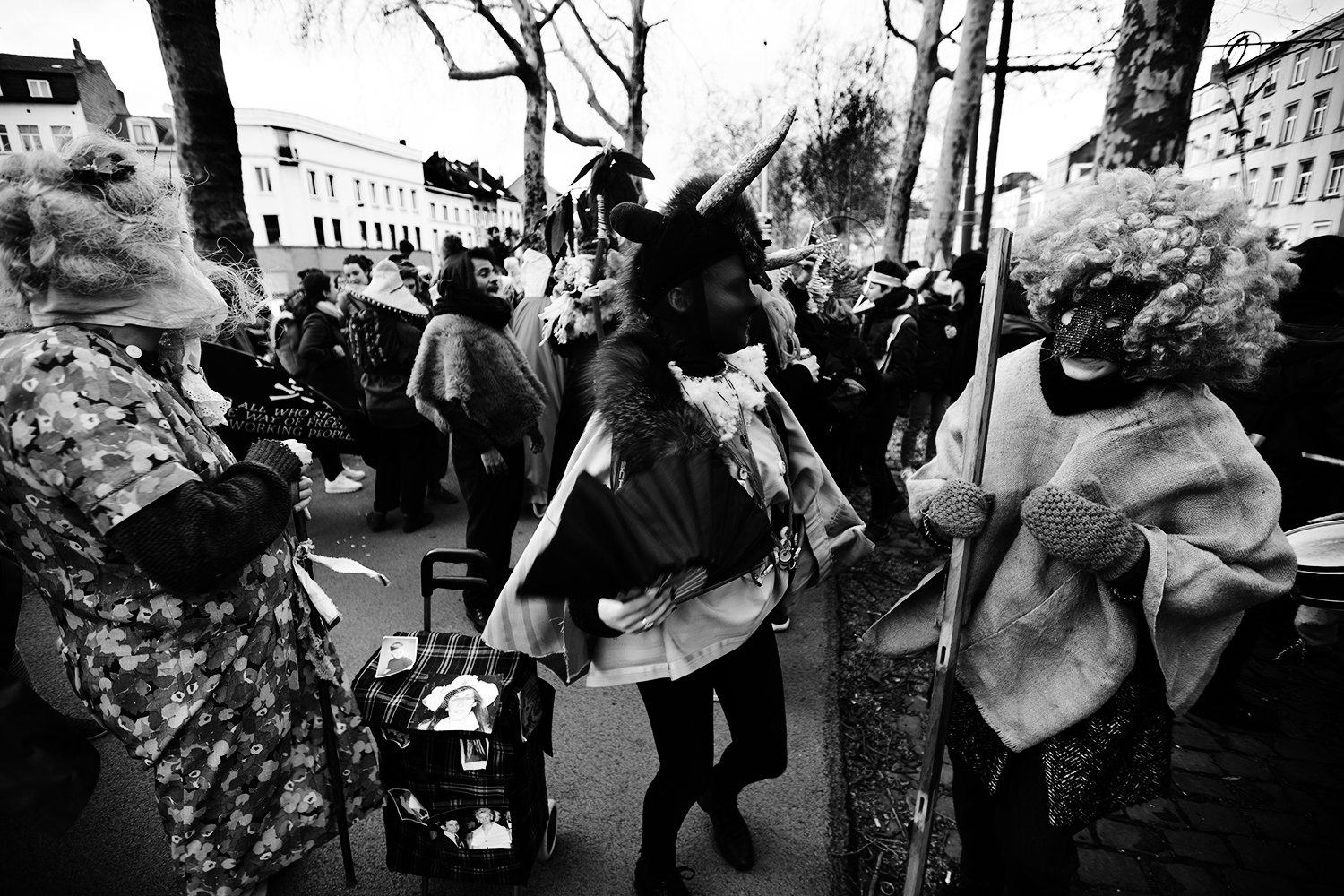 Carnaval sauvage de Bruxelles 2019 (Black & White) by Laurent Orseau #20