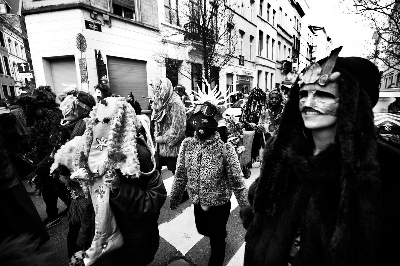 Carnaval sauvage de Bruxelles 2019 (Black & White) by Laurent Orseau #3