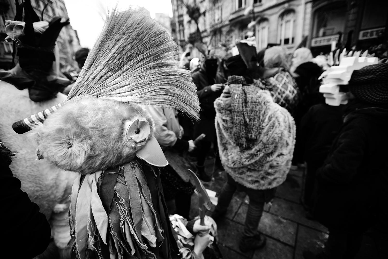 Carnaval sauvage de Bruxelles 2019 (Black & White) by Laurent Orseau #4