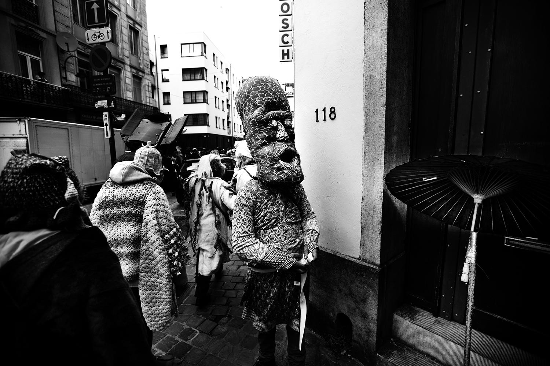 Carnaval sauvage de Bruxelles 2019 (Black & White) by Laurent Orseau #7