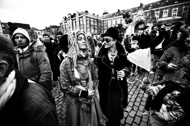Carnaval sauvage de Bruxelles 2019 (Black & White) by Laurent Orseau #8