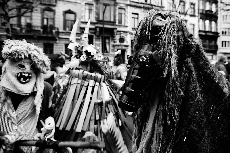Carnaval sauvage de Bruxelles 2019 (Black & White) by Laurent Orseau #9