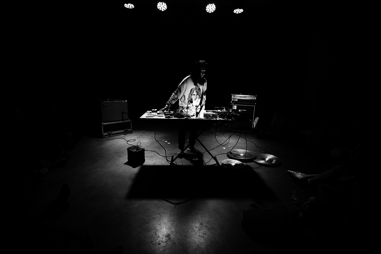 Aki Onda by Laurent Orseau - Concert - Les Ateliers Claus - Brussels, Belgium #2