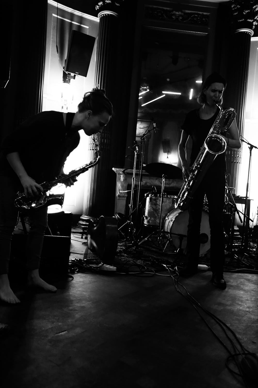 Angel Bat Dawid & Hanne De Backer & Signe Emmeluth by Laurent Orseau - Summer Bummer Festival - De Studio - Antwerp, Belgium #2