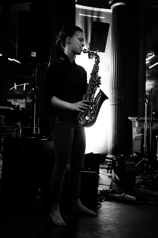 Angel Bat Dawid & Hanne De Backer & Signe Emmeluth by Laurent Orseau - Summer Bummer Festival - De Studio - Antwerp, Belgium #3