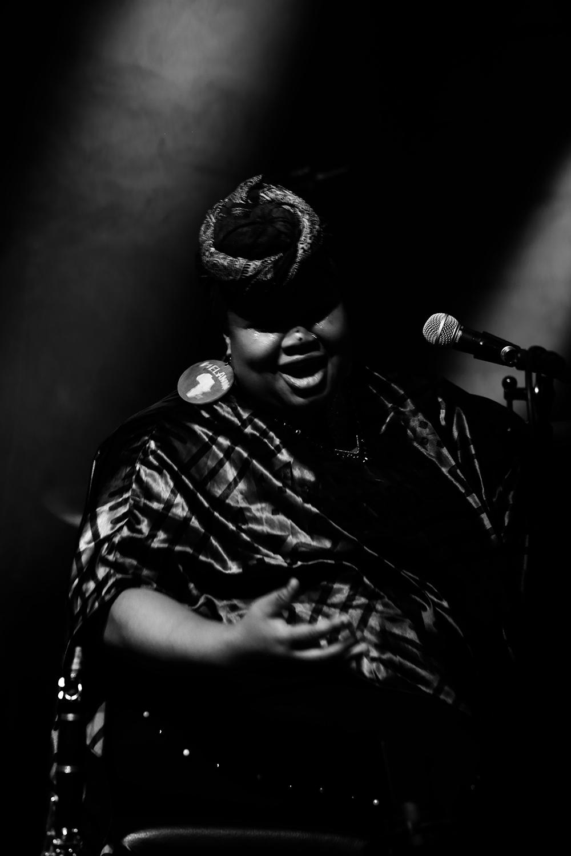 Angel Bat Dawid by Laurent Orseau - Summer Bummer Festival - De Studio - Antwerp, Belgium #12