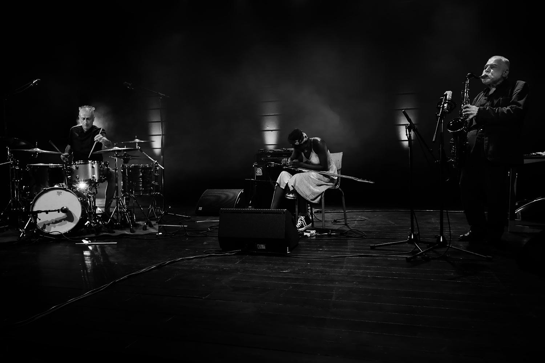 B.A.N. : Peter Brötzmann & Farida Amadou & Steve Noble by Laurent Orseau - Summer Bummer Festival - De Studio - Antwerp, Belgium #1