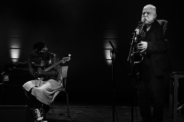 B.A.N. : Peter Brötzmann & Farida Amadou & Steve Noble by Laurent Orseau - Summer Bummer Festival - De Studio - Antwerp, Belgium #2