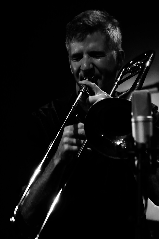 Bone-Crusher: Jeb Bishop & Matthias Muche & Matthias Müller by Laurent Orseau - Summer Bummer Festival - De Studio - Antwerp, Belgium #8