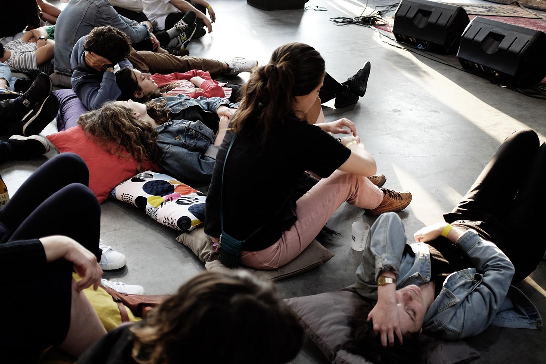 Cabane (séance d'écoute) by Laurent Orseau - Delicate Music Festival - BRASS - Brussels, Belgium #7