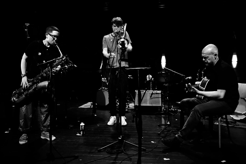 Cath Roberts & Tullis Rennie & Dirk Serries by Laurent Orseau - Summer Bummer Festival - De Studio - Antwerp, Belgium #1