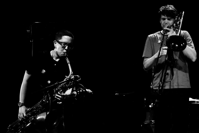 Cath Roberts & Tullis Rennie & Dirk Serries by Laurent Orseau - Summer Bummer Festival - De Studio - Antwerp, Belgium #4