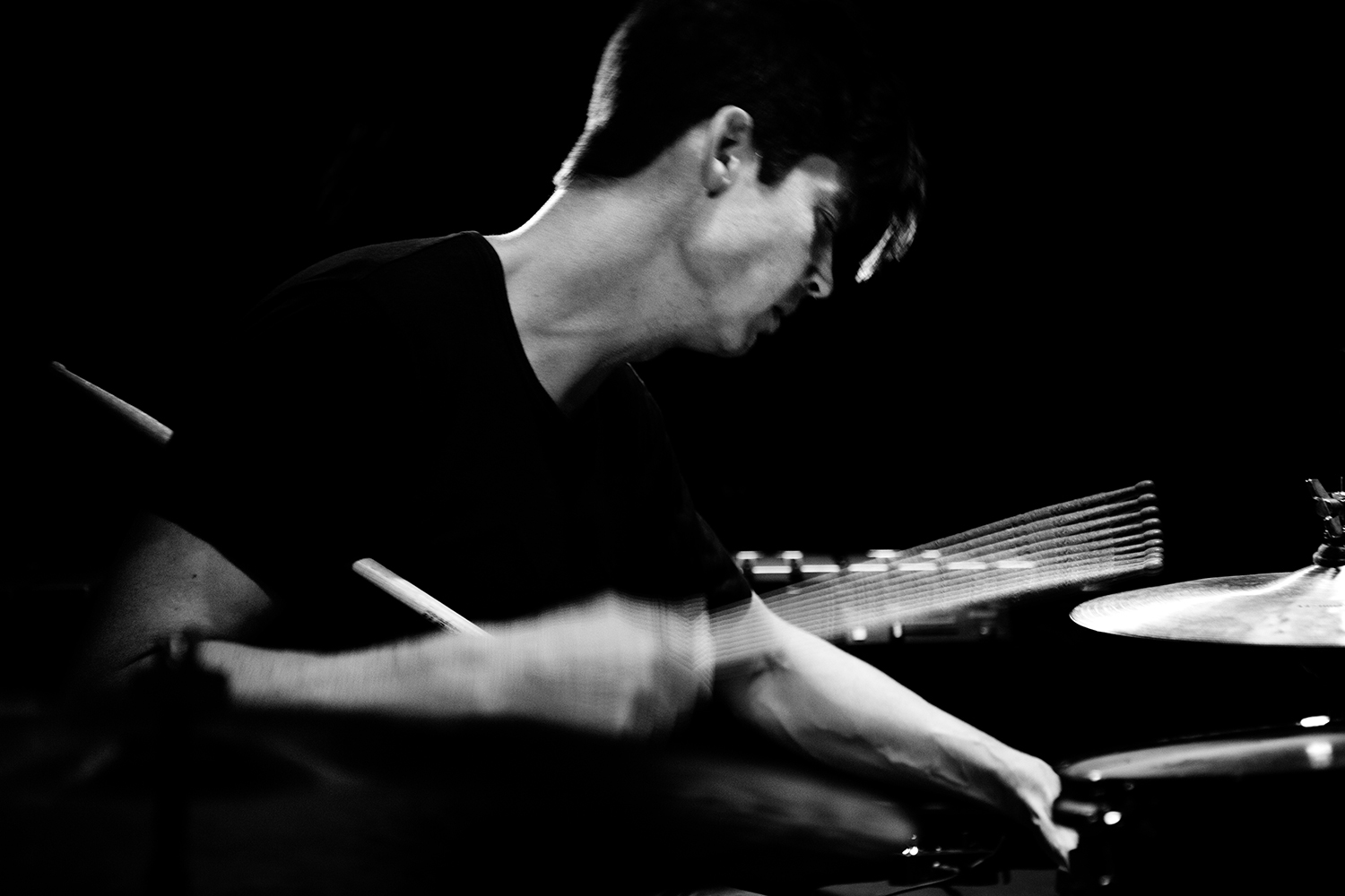 Ches Smith by Laurent Orseau - Concert - Les Ateliers Claus - Brussels, Belgium #7