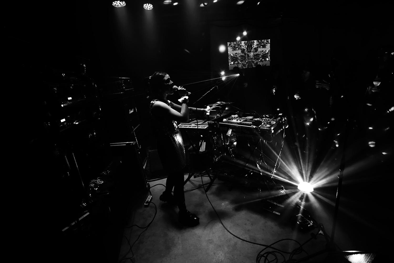 dj. flugvél og geimskip by Laurent Orseau - Concert - Les Ateliers Claus - Brussels, Belgium #16
