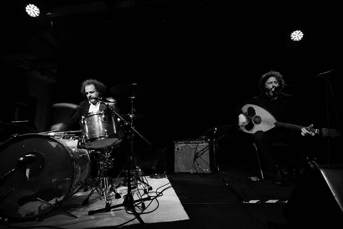 Xylouris White (Giorgos Xylouris & Jim White + Fanis Karoussos) by Laurent Orseau - Les Ateliers Claus - Brussels, Belgium #1