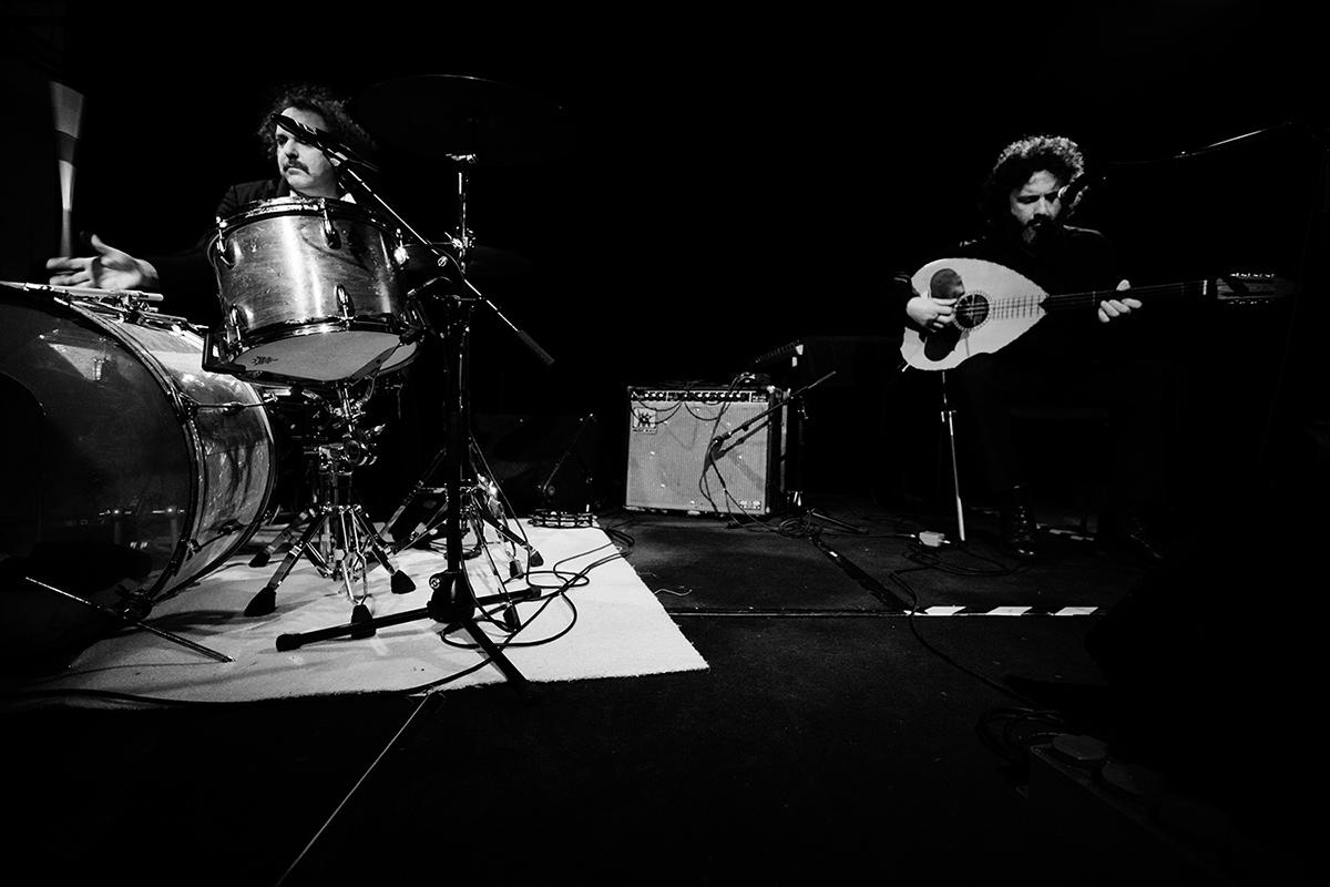 Xylouris White (Giorgos Xylouris & Jim White + Fanis Karoussos) by Laurent Orseau - Les Ateliers Claus - Brussels, Belgium #2