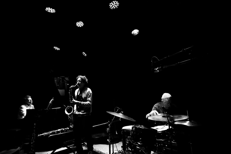 Han Bennink Trio (with Joachim Badenhorst & Simon Toldam) by Laurent Orseau - Les Ateliers Claus - Brussels, Belgium #3
