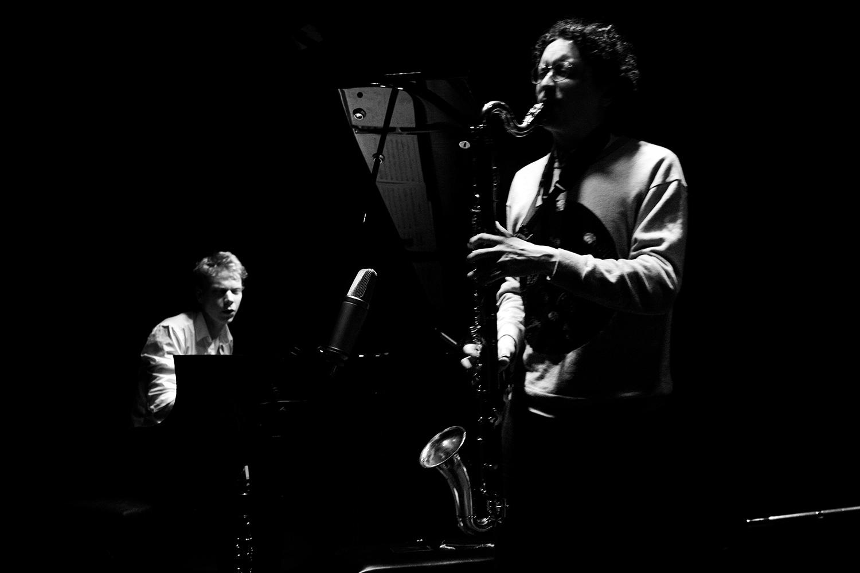 Han Bennink Trio (with Joachim Badenhorst & Simon Toldam) by Laurent Orseau - Les Ateliers Claus - Brussels, Belgium #5