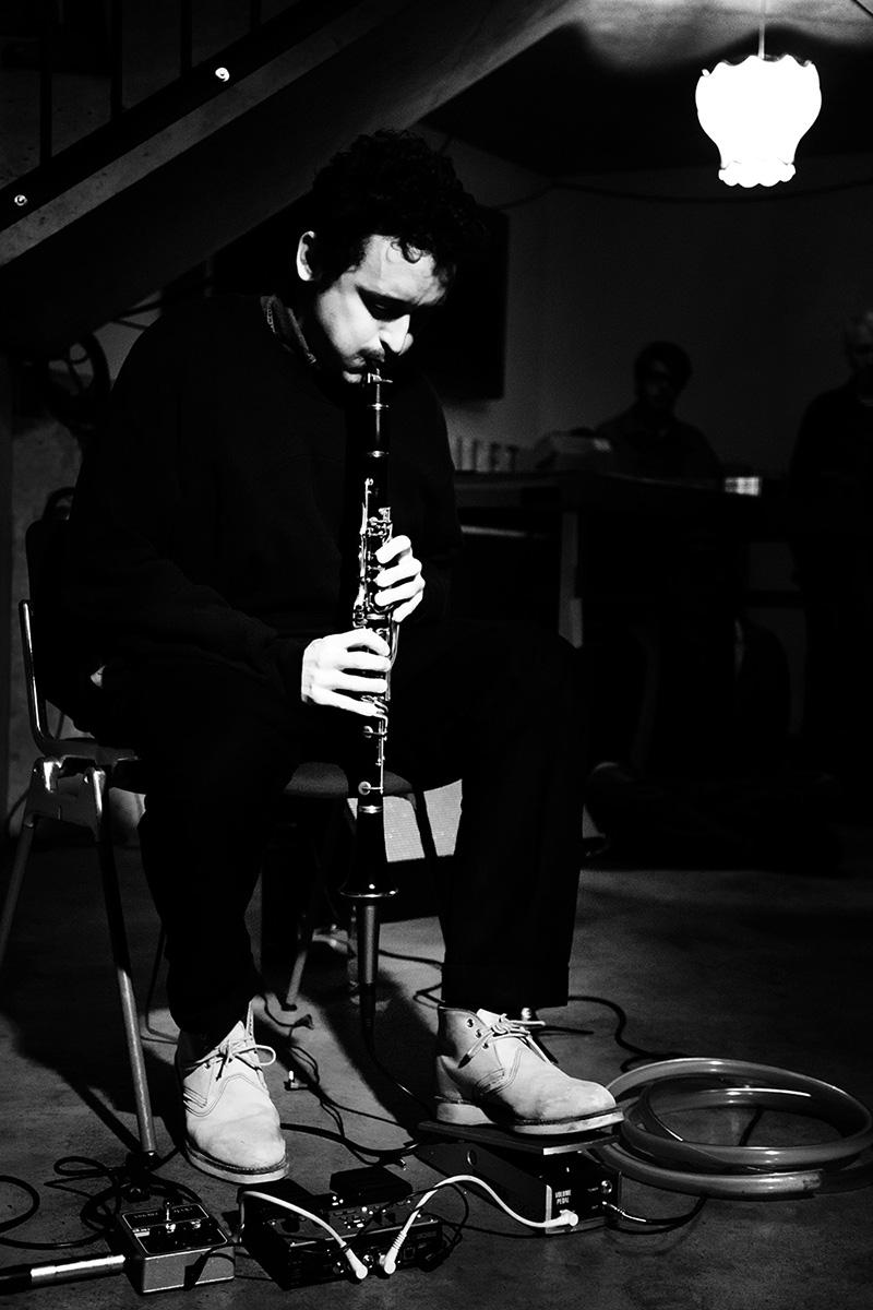 Joachim Badenhorst by Laurent Orseau - Concert - Les Ateliers Claus - Brussels, Belgium #3