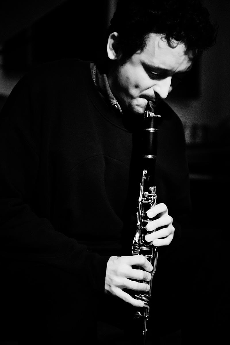 Joachim Badenhorst by Laurent Orseau - Concert - Les Ateliers Claus - Brussels, Belgium #6