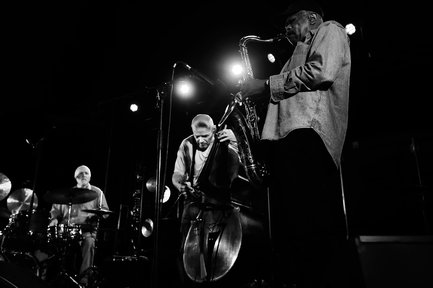 Joe Mcphee & Klaus Kugel & Peter Jacquemyn by Laurent Orseau - Kanal - Centre Pompidou with Les Ateliers Claus - Brussels, Belgium #2
