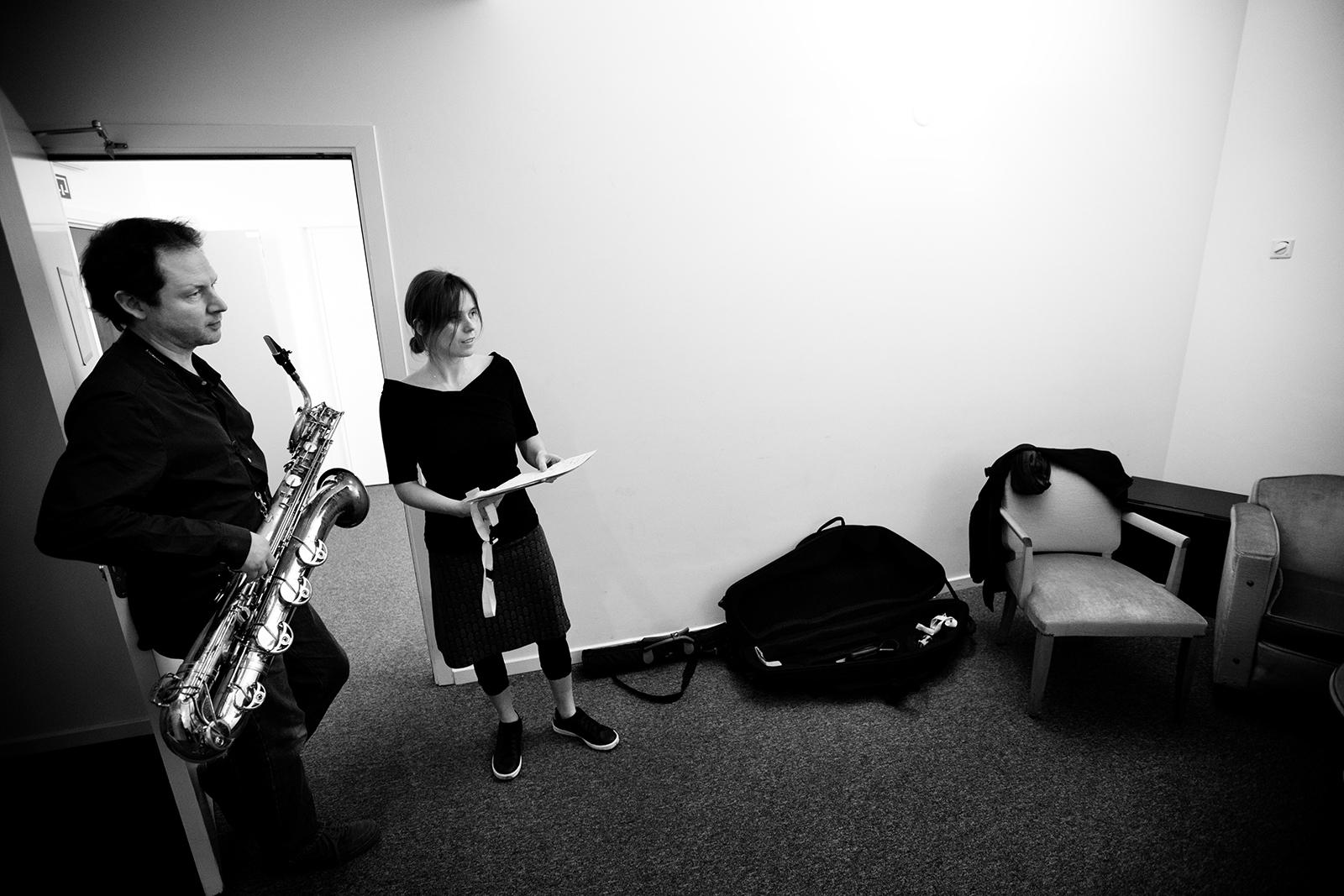 Lynn Cassiers - YUN by Laurent Orseau - Backstage - Flagey - Brussels, Belgium #3
