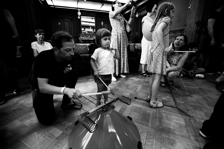 Michel Deneuve - Workshop Improv With Bashet Structures For Education by Laurent Orseau - Summer Bummer Festival - De Studio - Antwerp, Belgium #10