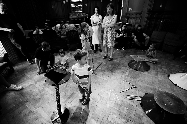 Michel Deneuve - Workshop Improv With Bashet Structures For Education by Laurent Orseau - Summer Bummer Festival - De Studio - Antwerp, Belgium #14