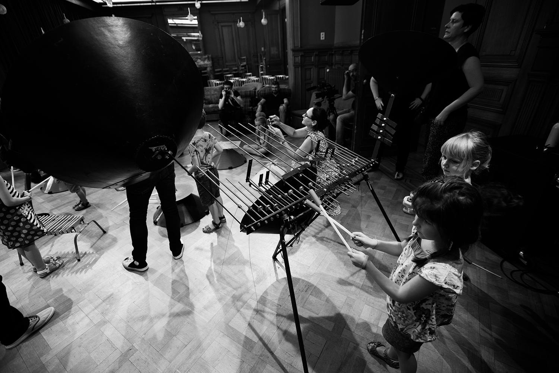 Michel Deneuve - Workshop Improv With Bashet Structures For Education by Laurent Orseau - Summer Bummer Festival - De Studio - Antwerp, Belgium #15