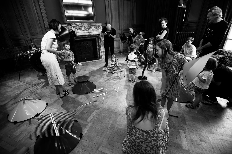 Michel Deneuve - Workshop Improv With Bashet Structures For Education by Laurent Orseau - Summer Bummer Festival - De Studio - Antwerp, Belgium #5